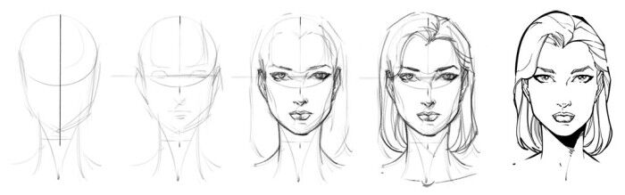 szkic twarzy